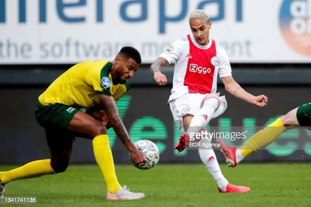 Anthony of Ajax during the Dutch Eredivisie match between Fortuna Sittard and Ajax at Fortuna Sittard Stadion on September 21, 2021 in Sittard,...