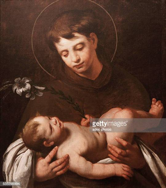 Anthony of Padua with the Infant Jesus Anthony of Padua Portuguese catholic priest and friar of the Franciscan order Oil on canvas by Bernardo...