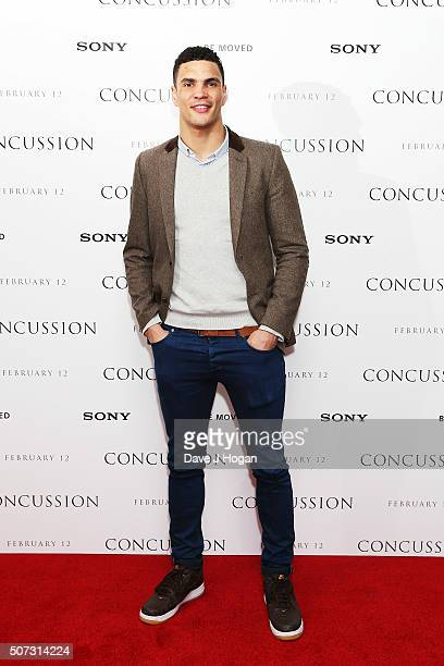 Anthony Ogogo attends a special screening of Concussion at Ham Yard Hotel on January 28 2016 in London England