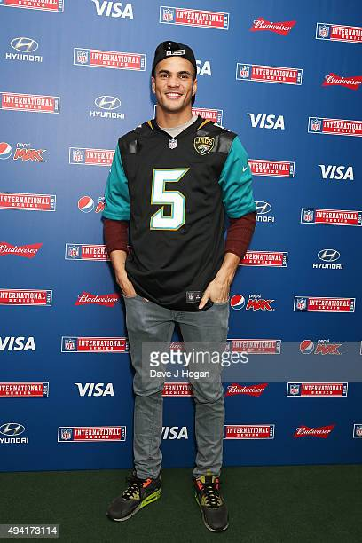 Anthony Ogogo attends the annual NFL International Series as the Jacksonville Jaguars compete against the Buffalo Bills at Wembley Stadium on October...