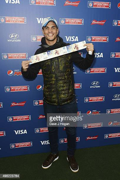 Anthony Ogogo attends the annual NFL International Series as the Detroit Lions compete against the Kansas City Chiefs at Wembley Stadium on November...