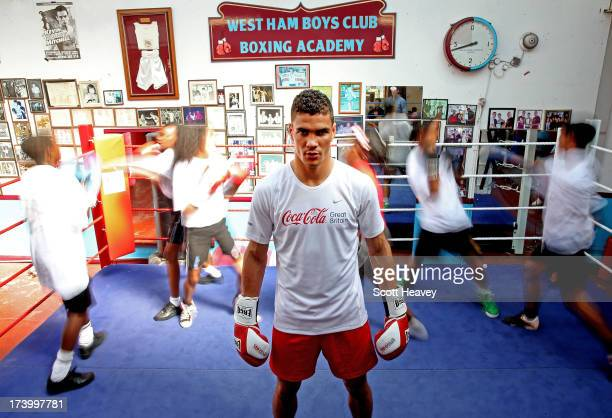 Anthony Ogogo joins teenagers from East London to take part in a boxing training session run by CocaCola GB and sports charity StreetGames at West...