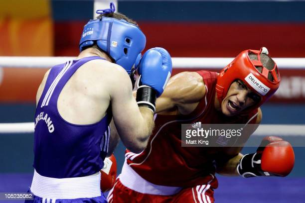 Anthony Ogogo of England competes against Eamonn of O'Kane of Northern Ireland in the Middle Weight Men Finals Gold Medal Bout at Talkatora Indoor...