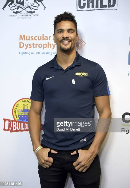 Anthony Ogogo representing Brainwave charity attends BGC Charity Day at One Churchill Place on September 11 2018 in London England