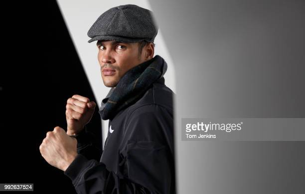 Anthony Ogogo the middleweight boxer who won bronze at the 2012 Olympics and competed in the 2015 Strictly Come Dancing poses for a portrait at the...