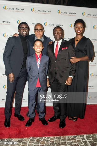 Anthony Okungbowa Barry Shabaka Henley Travis Wolfe Jr Bayo Akinfemi and Folake Olowofoyeky attend the Clare Matrix 22nd Annual Tribute Dinner at...