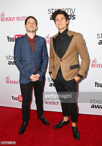 Anthony Padilla and guest arrive at the Steamy Awards at the Beverly Hilton Hotel on October 4 2016 in Beverly Hills California