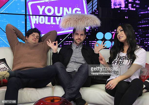 Anthony Padilla and Ian Hecox from SMOSH visits the Young Hollywood Studio on December 12 2016 in Los Angeles California