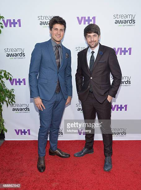 Anthony Padilla and Ian Hecox of Smosh attend the 5th Annual Streamy Awards at Hollywood Palladium on September 17 2015 in Los Angeles California