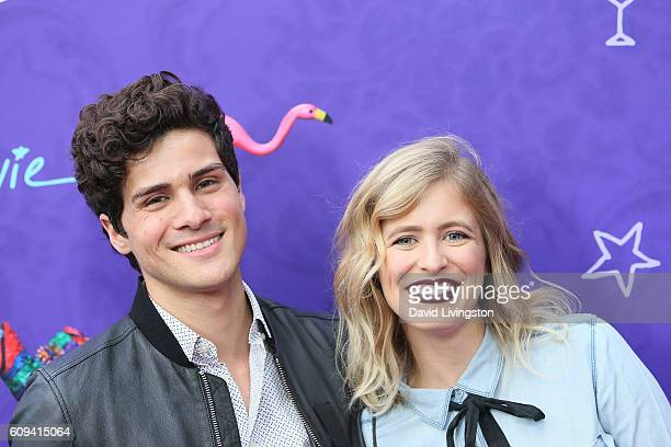 Anthony Padilla and Miel arrive at the Premiere of Lionsgate's Dirty 30 at the ArcLight Hollywood on September 20 2016 in Hollywood California