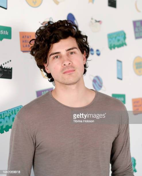 Anthony Padilla attends ATT Hello Lab's 'STARTER PACK' LOG ON The Internet Experience PopUp on October 12 2018 in Los Angeles California