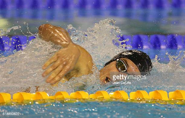 Anthony Pannier of France competes in the men's 400m freestyle final during day 5 of the French National Swimming Championships at Piscine Olympique...