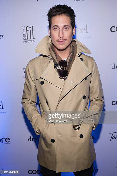 Anthony Pazos poses for a photo in the Tone It Up Wellness Lounge during the Sundance Film Festiva on January 21, 2017 in Park City, Utah.