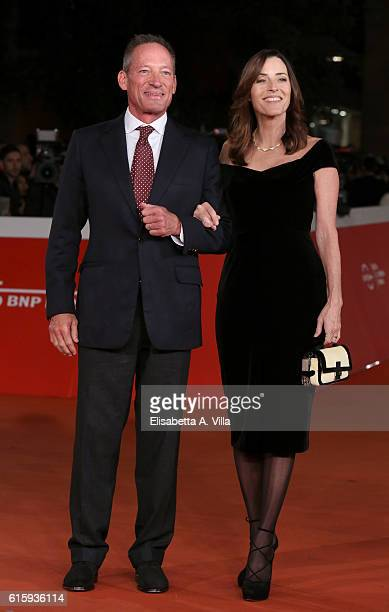 Anthony Peck and Cecilia Peck walk a red carpet honouring Gregory Peck during the 11th Rome Film Festival at Auditorium Parco Della Musica on October...