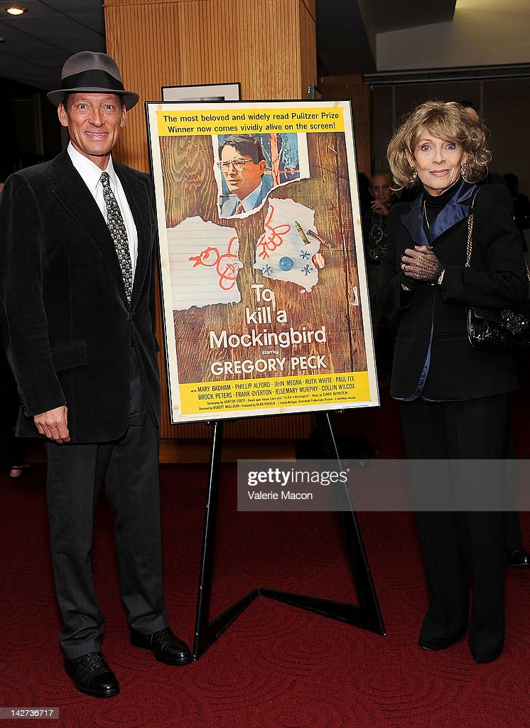 Anthony Peck (L) and Veronique Peck (R) attend The Academy Of Motion Picture Arts And Sciences Presents The 50th Anniversary Screening Of 'To Kill A Mockingbird' at AMPAS Samuel Goldwyn Theater on April 11, 2012 in Beverly Hills, California.