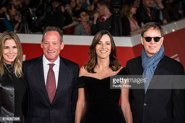Anthony Peck Cecilia Peck Daniel Voll walk the red carpet honoring Gregory Peck during the 11th Rome Film Festival in Rome Italy