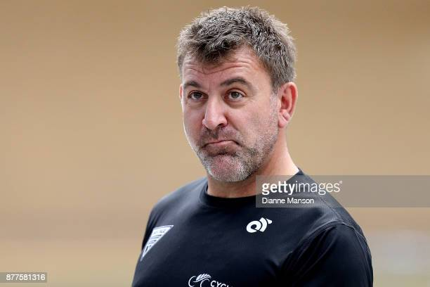 Anthony Peden Sprint Coach of New Zealand looks on during the New Zealand Oceania Track Championships on November 23 2017 in Cambridge New Zealand