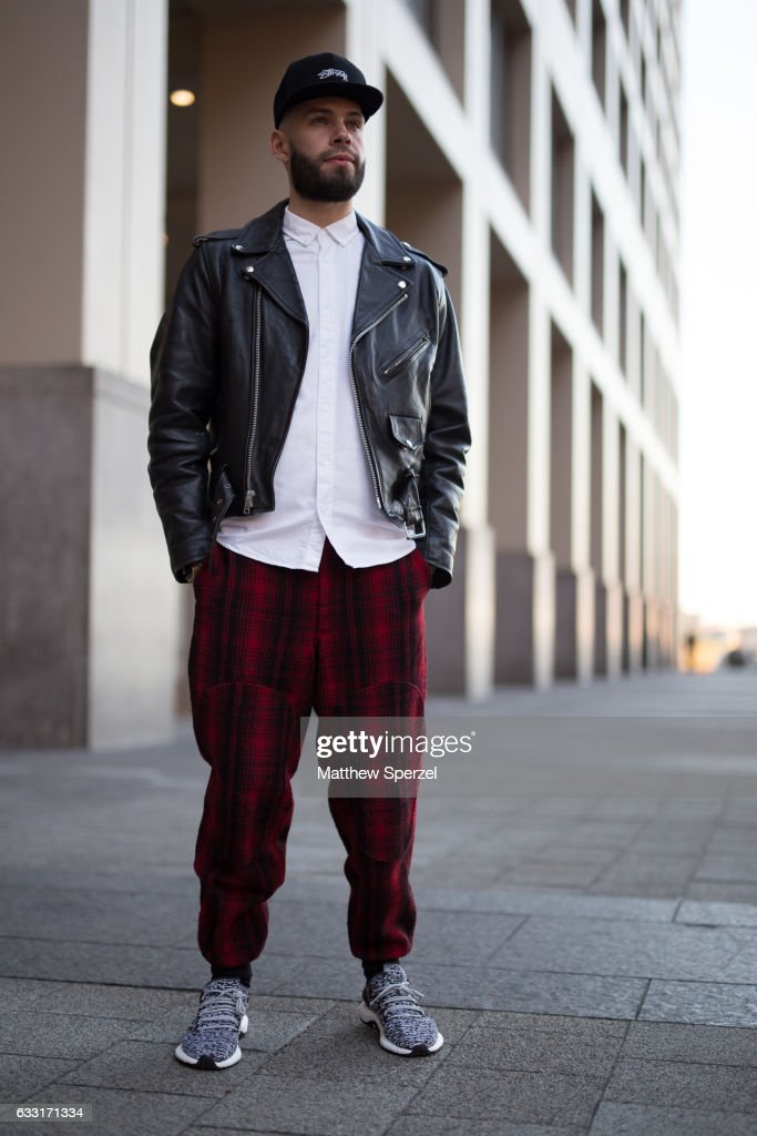 Anthony Pedraza is seen attending NYFW Men's Day at Dune Studios wearing Calvin Klein and Adidas on January 30, 2017 in New York City.