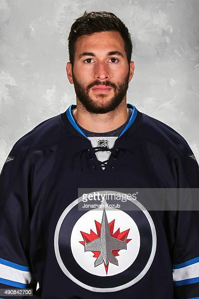 Anthony Peluso of the Winnipeg Jets poses for his official headshot for the 20152016 season on September 17 2015 at the MTS Centre in Winnipeg...