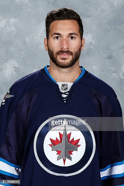 Anthony Peluso of the Winnipeg Jets poses for his official headshot for the 20162017 season on September 22 2016 at the MTS Centre in Winnipeg...