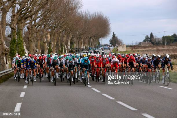 Anthony Perez of France and Team Cofidis Polka Dot Mountain Jersey, Clement Russo of France and Team Arkea - Samsic, Connor Swift of United Kingdom...