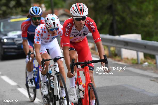 Anthony Perez of France and Team Cofidis Solutions Credits / Benoit Cosnefroy of France and Team Ag2R La Mondiale Polka Dot Mountain Jersey / Jerome...