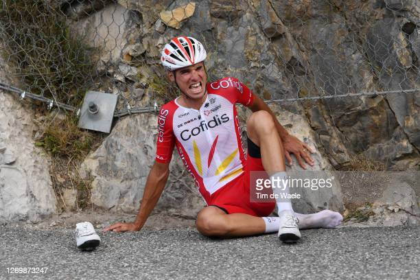 Anthony Perez of France and Team Cofidis Solutions Credits / Crash / Injury / during the 107th Tour de France 2020, Stage 3 a 198km stage from Nice...