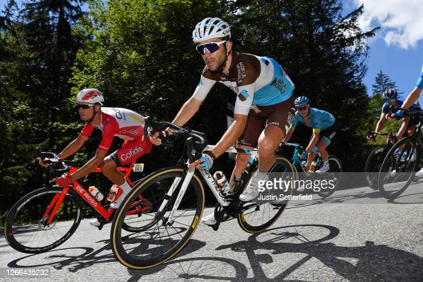 Anthony Perez of France and Team Cofidis Solutions Credits / Tony Gallopin of France and Team Ag2R La Mondiale / Nikita Stalnov of Kazahkstan and...