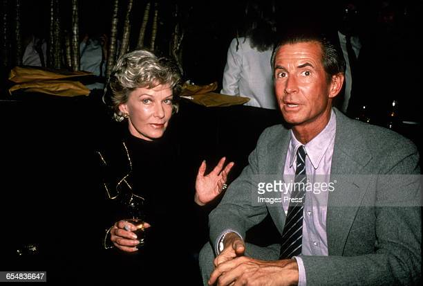 Anthony Perkins and costar Vera Miles circa 1983 in New York City