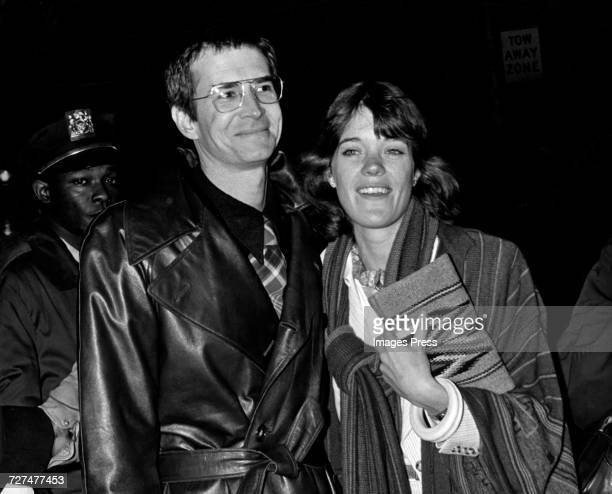 Anthony Perkins and wife Berry Berenson attend the Premiere for 'Tommy' circa 1975 in New York City