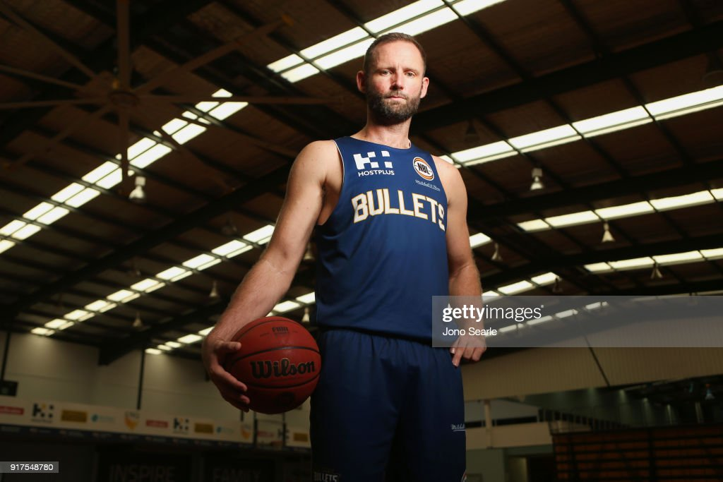 Anthony Petrie of the Brisbane Bullets poses during a portrait session on February 13, 2018 in Brisbane, Australia. Petrie will play his last home game on Thursday before retiring from the NBL.