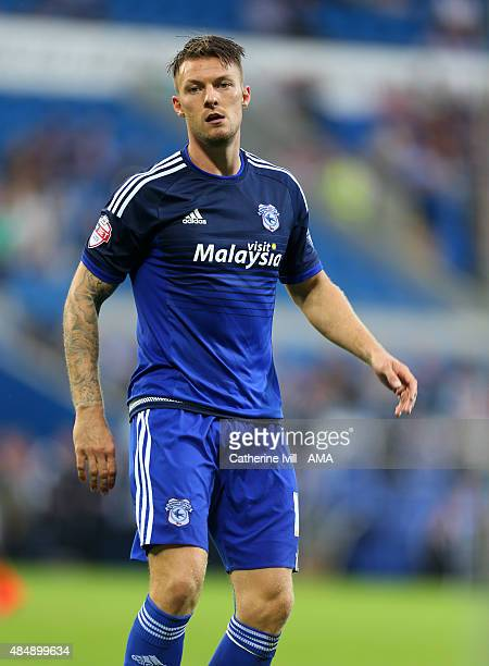 Anthony Pilkington of Cardiff City during the Sky Bet Championship match between Cardiff City and Wolverhampton Wanderers at Cardiff City Stadium on...