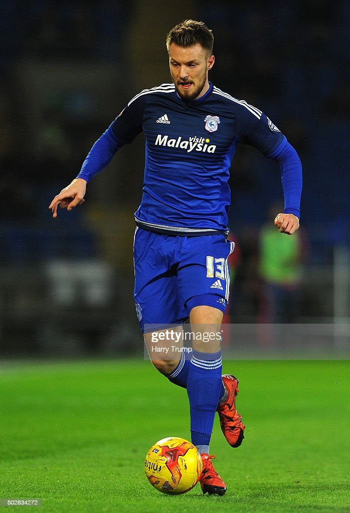 Anthony Pilkington of Cardiff City during the Sky Bet Championship match between Cardiff City and Nottingham Forest at the Cardiff City Stadium on December 29, 2015 in Cardiff, Wales.
