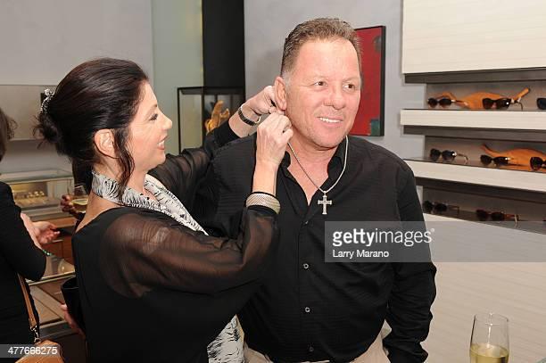 Anthony Pryor and Claudia Monsini attend David Yurman Hosts an InStore Shopping Experience Benefiting Boca Raton Regional Hospital Foundation on...