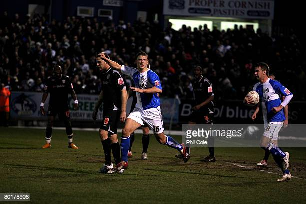 Anthony Pulis of Bristol Rovers celebrates scoring during the FA Cup sponsored by EON 6th Round match between Bristol Rovers and West Bromwich Albion...