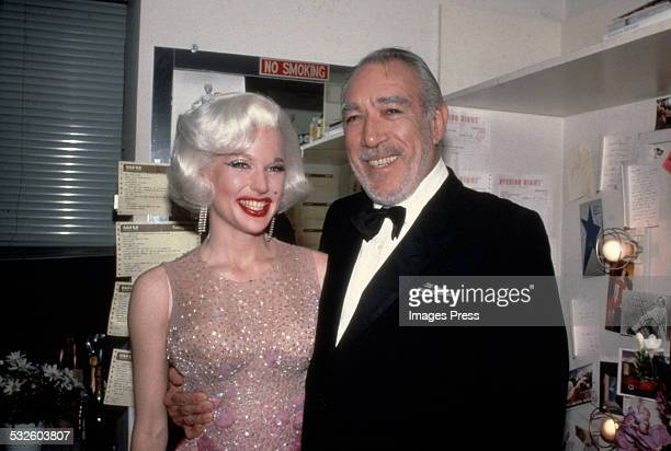 Anthony Quinn and an unidentified woman circa 1983 in New York City