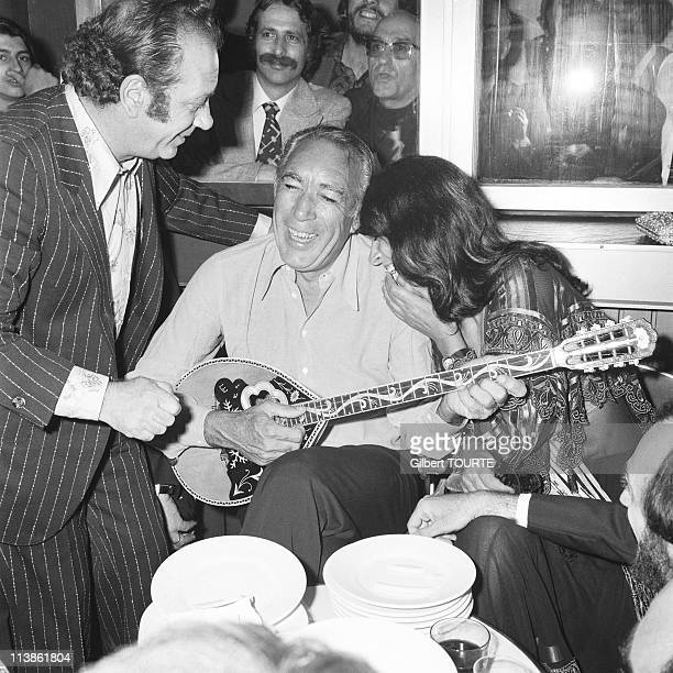 Anthony Quinn and Irene Papas at Cannes Film Festival in 1976 in Cannes France