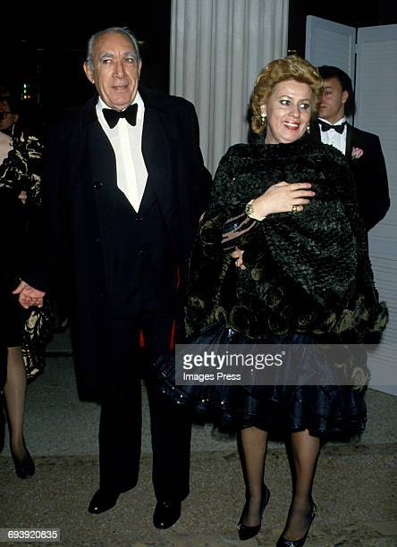 Anthony Quinn and wife Jolanda circa 1987 in New York City