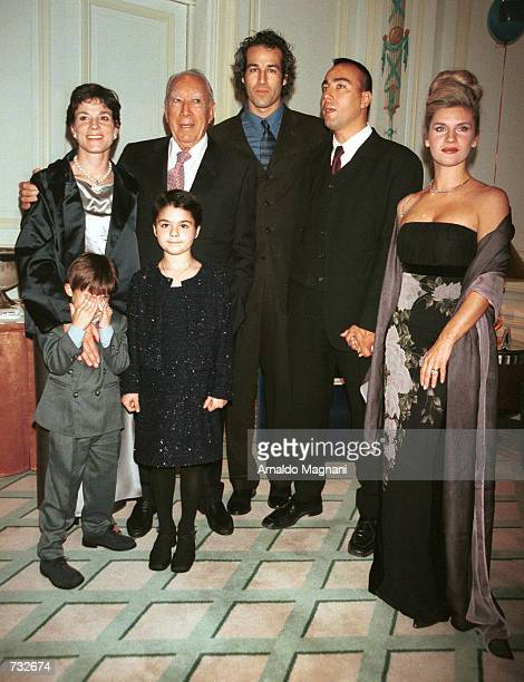 Anthony Quinn second from left in back row along with his family wife Kathy Quinn left son Jeb third from left son Lorenzo fourth from left and...
