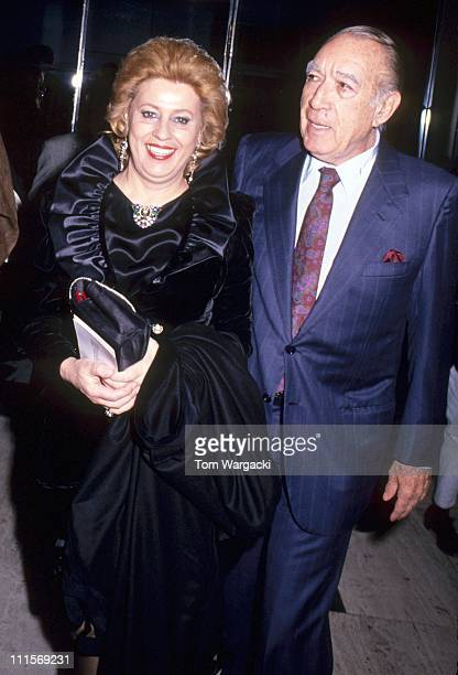 Anthony Quinn with his wife Yolanda during 'Out For Justice' New York Premiere April 10 1991 in New York City United States