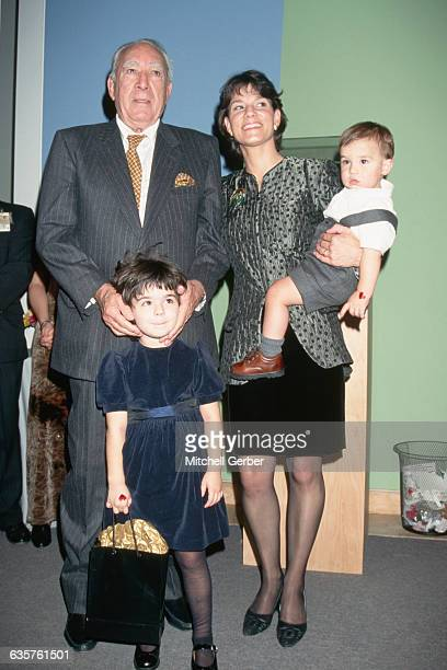 Anthony Quinn with Kathy Bevin and their two children at the world launch of My Time by Anthony Quinn