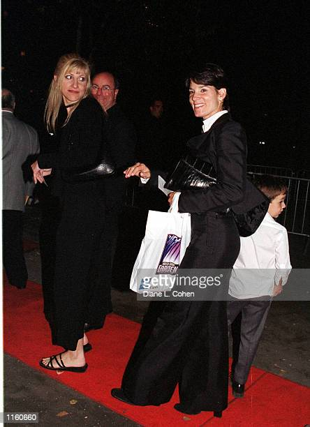 Anthony Quinn's Widow Kathy Benvin arrive at Tavern on the Green September 7 2001 for the Michael Jackson concert after party in New York City
