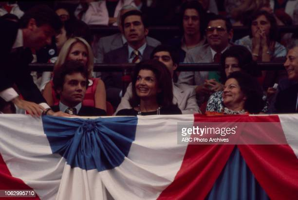 Anthony Radziwill Former First Lady Jacqueline Kennedy Lee Radziwill at the 1976 Democratic National Convention Madison Square Garden in New York City