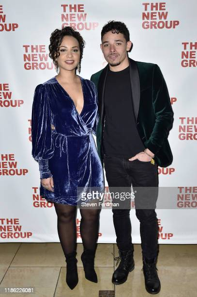 Anthony Ramos and Jasmine Cephas Jones attend Cyrano opening night party at Irvington Bar Restaurant on November 07 2019 in New York City