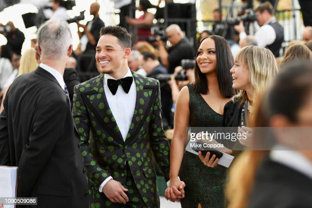 Anthony Ramos and Jasmine Cephas Jones attend the 25th Annual Screen ActorsGuild Awards at The Shrine Auditorium on January 27 2019 in Los Angeles...