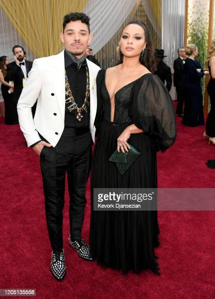 Anthony Ramos and Jasmine Cephas Jones attend the 92nd Annual Academy Awards at Hollywood and Highland on February 09 2020 in Hollywood California