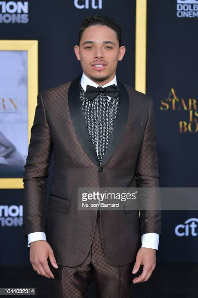 Anthony Ramos arrives at the Premiere Of Warner Bros Pictures' 'A Star Is Born' at The Shrine Auditorium on September 24 2018 in Los Angeles...