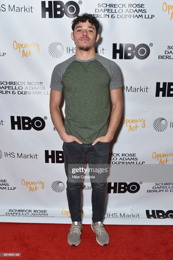 Anthony Ramos attends Opening Act's 12th Annual Benefit Play Reading 'Hear Me Here' At New World Stages on March 13, 2018 in New York City.
