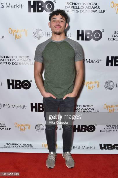 Anthony Ramos attends Opening Act's 12th Annual Benefit Play Reading Hear Me Here At New World Stages on March 13 2018 in New York City