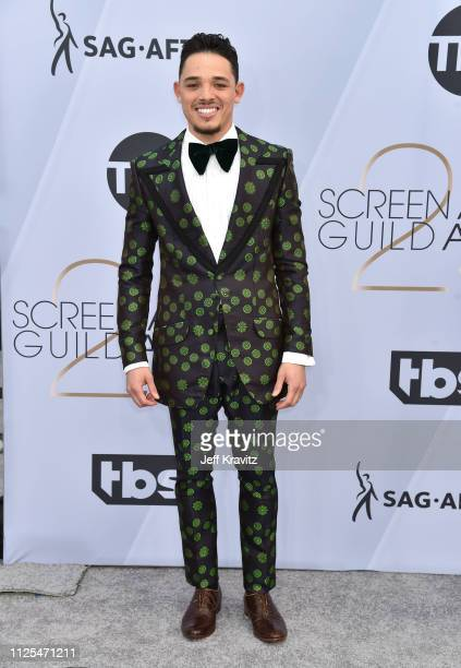 Anthony Ramos attends the 25th Annual Screen ActorsGuild Awards at The Shrine Auditorium on January 27 2019 in Los Angeles California